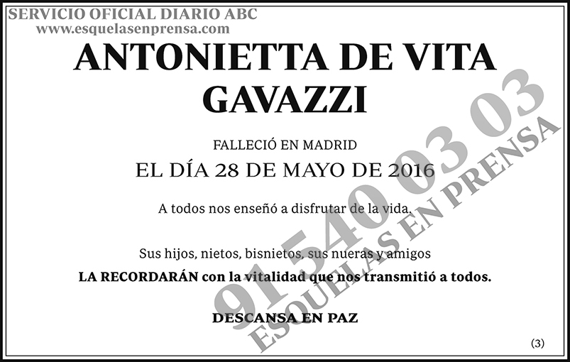 Antonietta de Vita Gavazzi